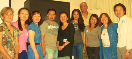 Karin Anna Cheung with faculty