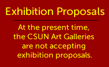 art galleries are not accepting proposals announcement