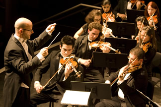 Conductor with violin section